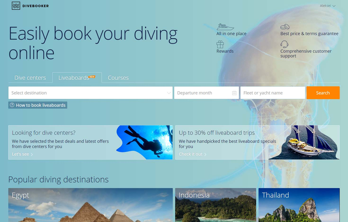 Online Reservation System for Traveling Divers